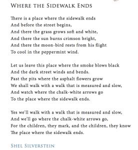 Where-the-sidewalk-ends-poem